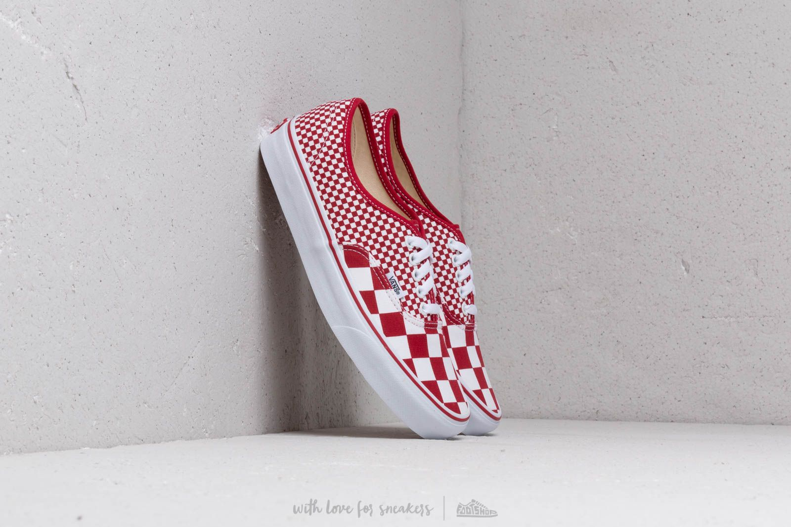 Chaussures et baskets homme Vans Authentic (Mix Checker) Chili Pepper