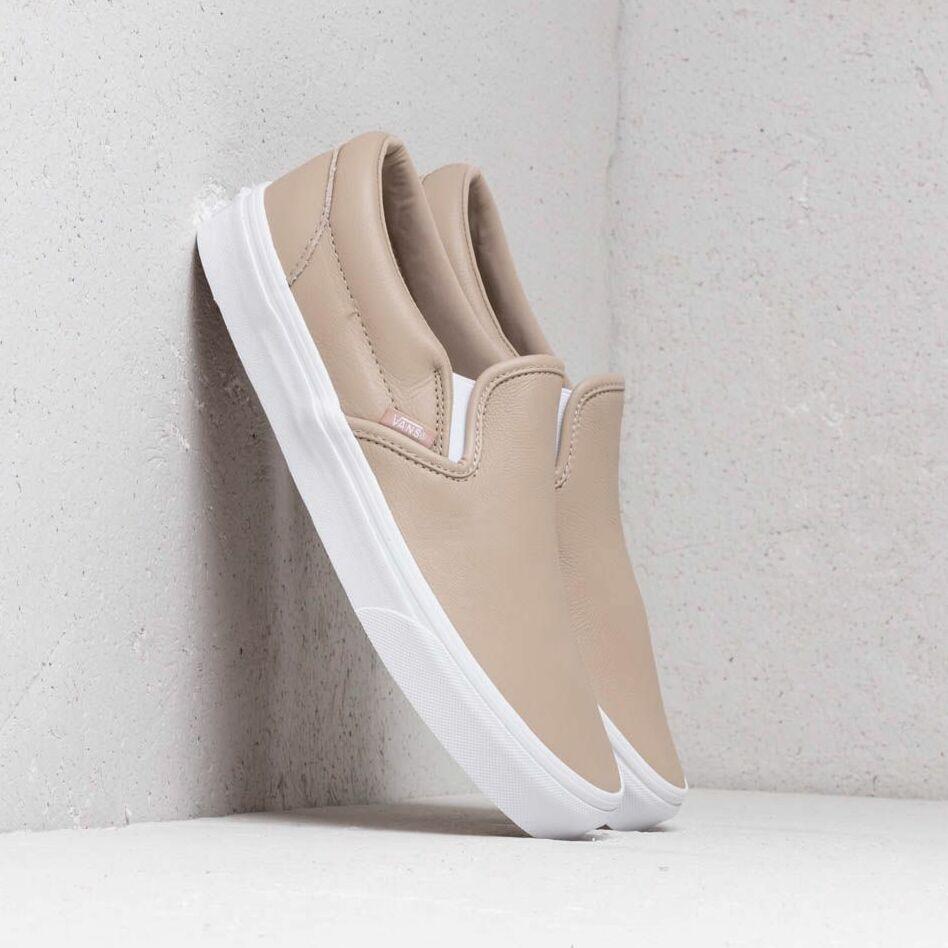 Vans Classic Slip-On (Leather) Humus/ True White EUR 36