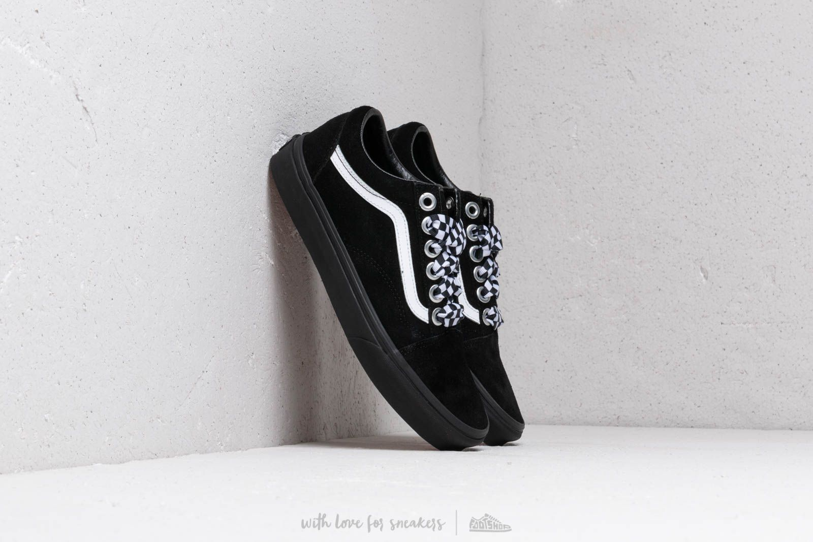 30e983eeb8a Vans Old Skool (Check Lace) Black  Black at a great price 73 €