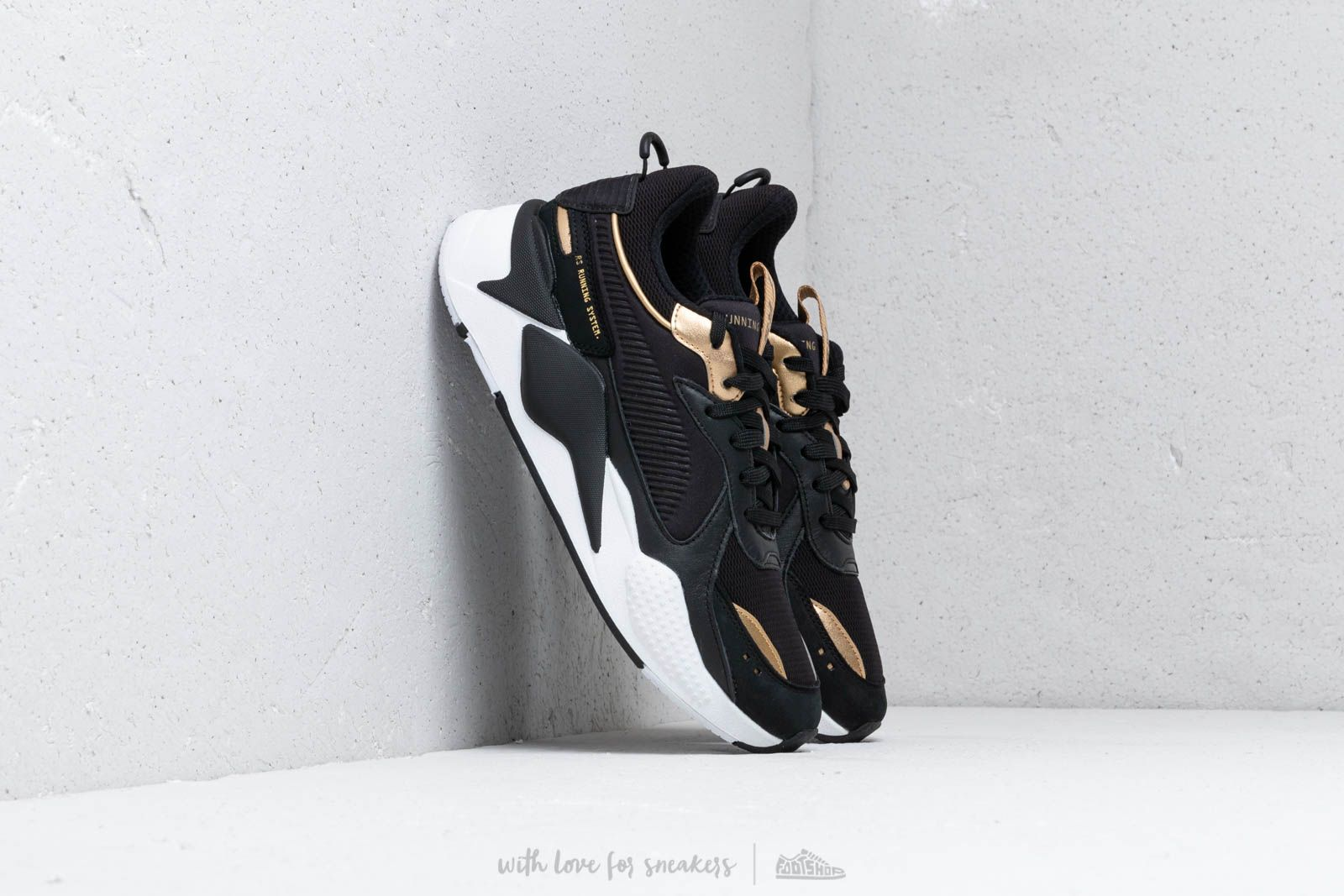 Puma RS-X Trophy Puma Black  Team Gold  add2427f78