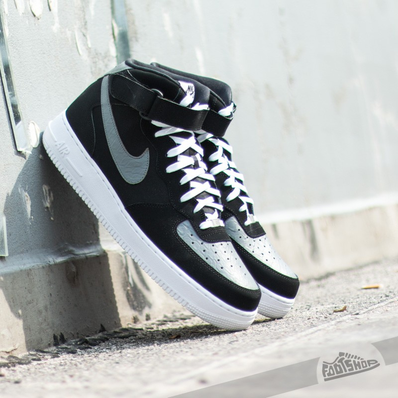 Nike Air Force 1 Mid ´07 Black Cool Grey-White  674ccfe20