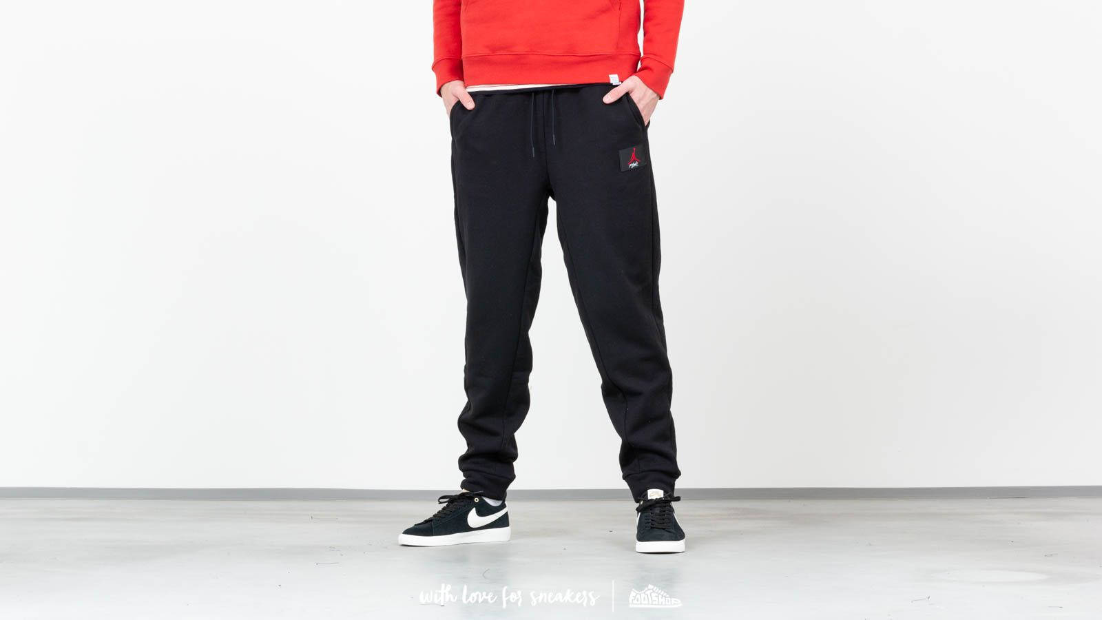 e5078da47ae3b Jordan Air Flight Loopback Pants Black a prezzo eccezionale 78 € acquistate  su Footshop.it