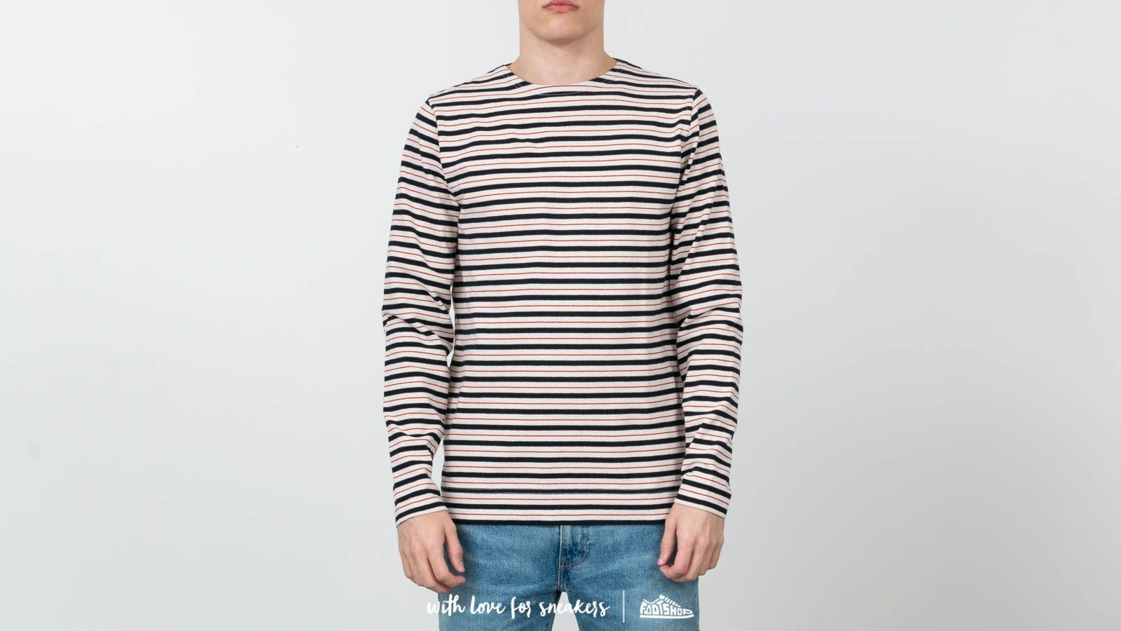 T-shirts Norse Projects Godtfred Classic Compact Longsleeve Tee Multi Stripe Askja Red