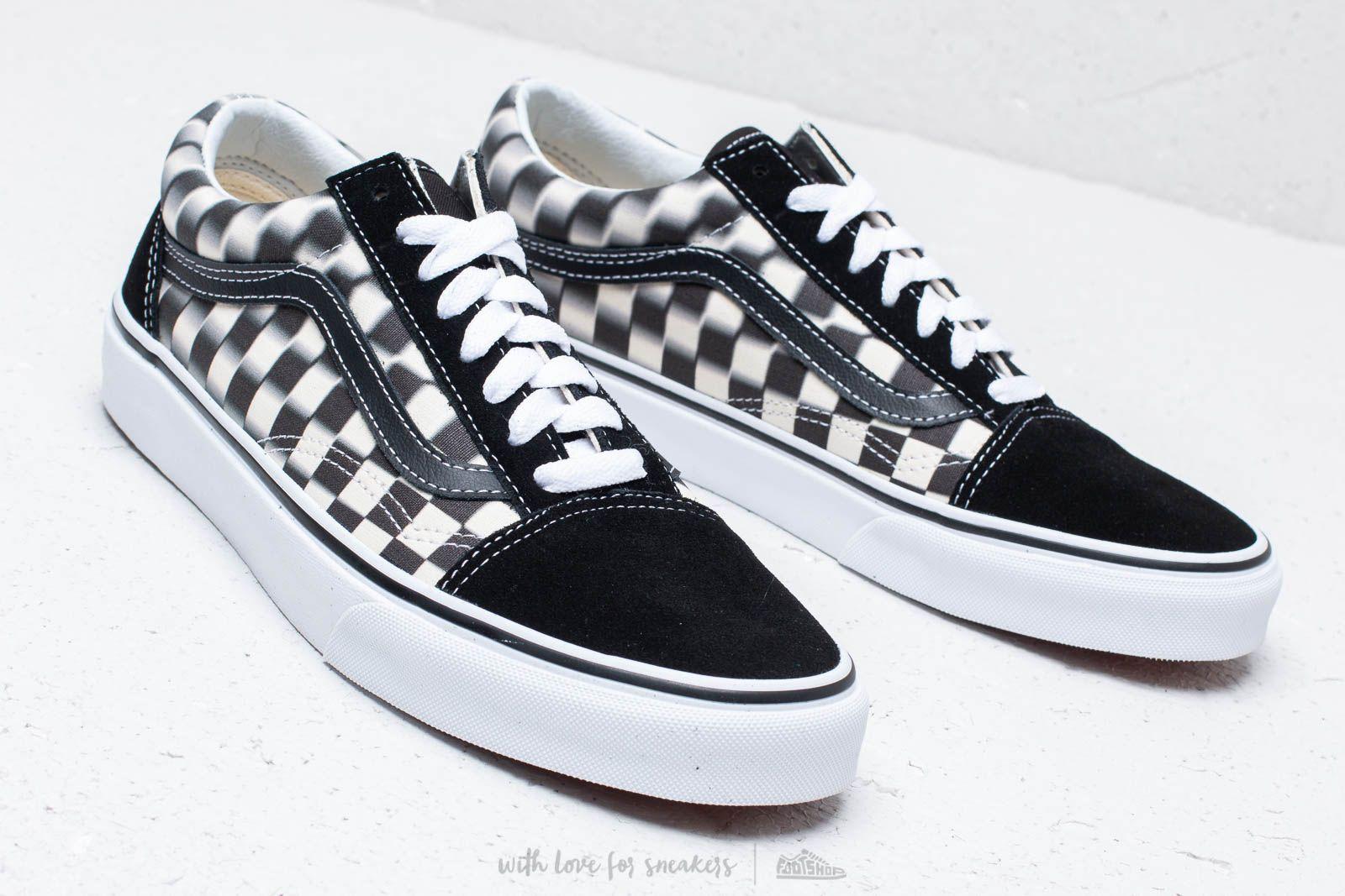 Vans Old Skool (Blur Check) Black Classic | Footshop