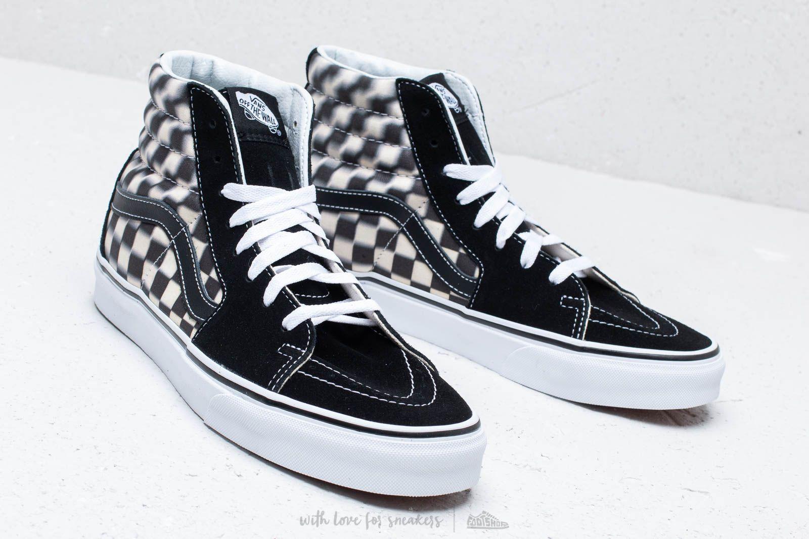 Men's shoes Vans SK8-Hi (Blur Check
