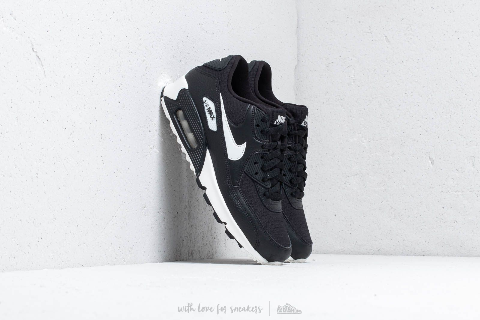 08e700f90098 Nike Wmns Air Max 90 Black  Summit White-Black-Black at a great