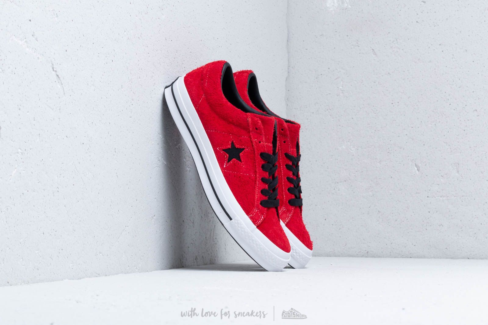 Converse One Star OX Enamel Red  Black  White at a great price £76 101e20b6b2b
