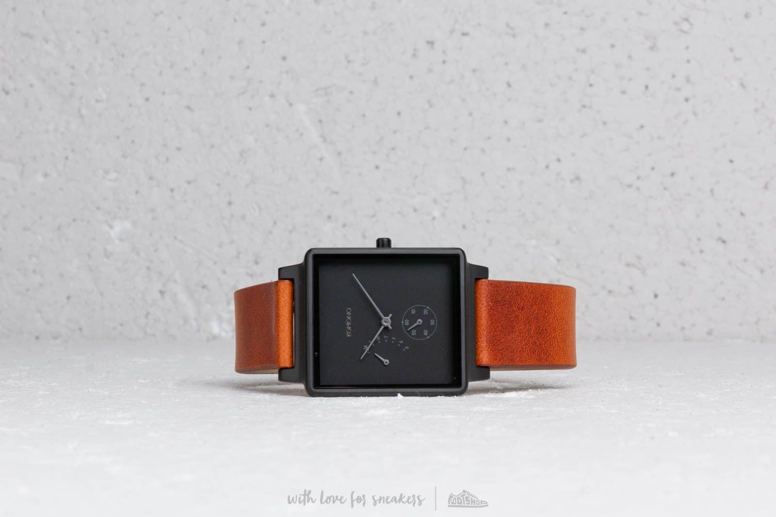 Watches Komono Konrad Retrograde Watch Black/ Cognac