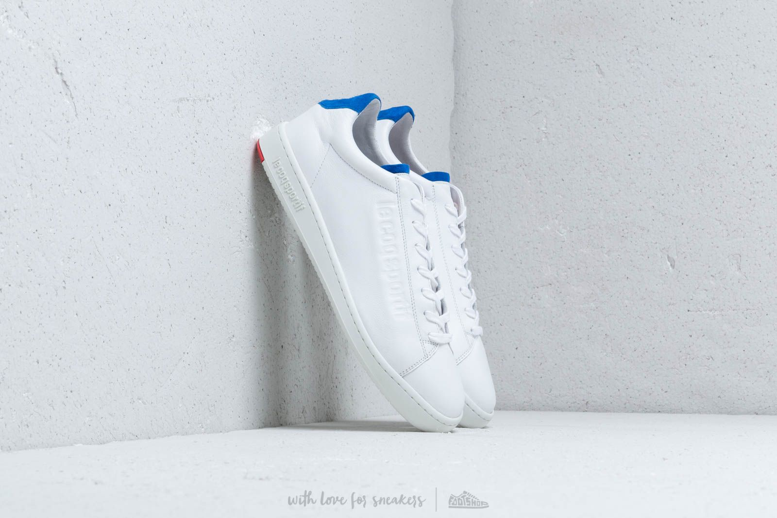 Herenschoenen le coq sportif Blazon Optical White/ Cobalt