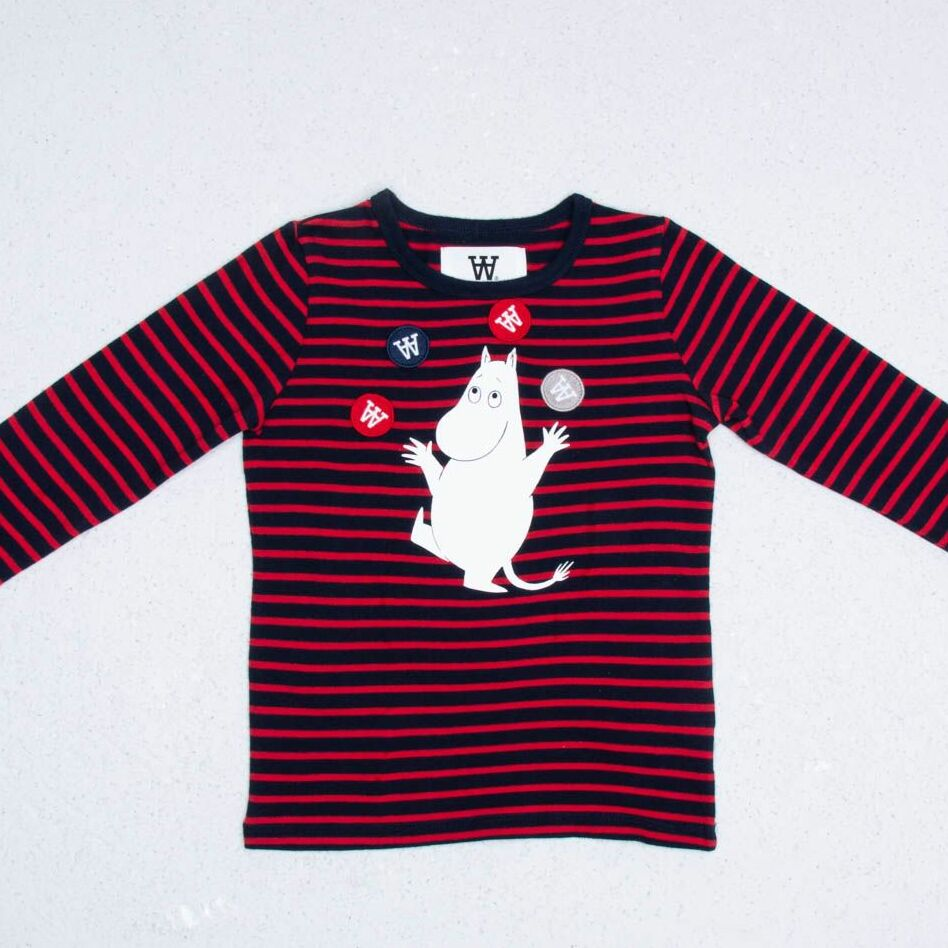 Wood Wood x Double A Kim Longsleeves Tee Navy Red Stripes