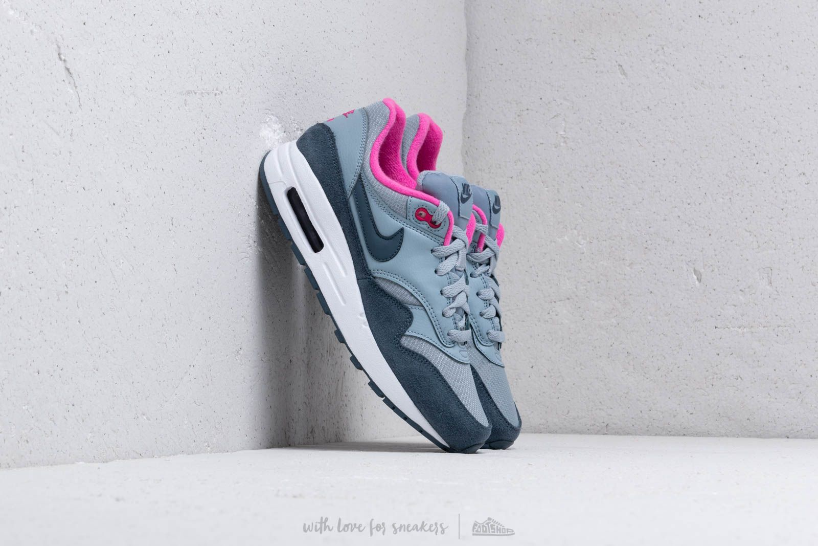 Nike Air Max 1 (GS) Obsidian Mist Monsoon Blue Laser Fuchsia | Footshop