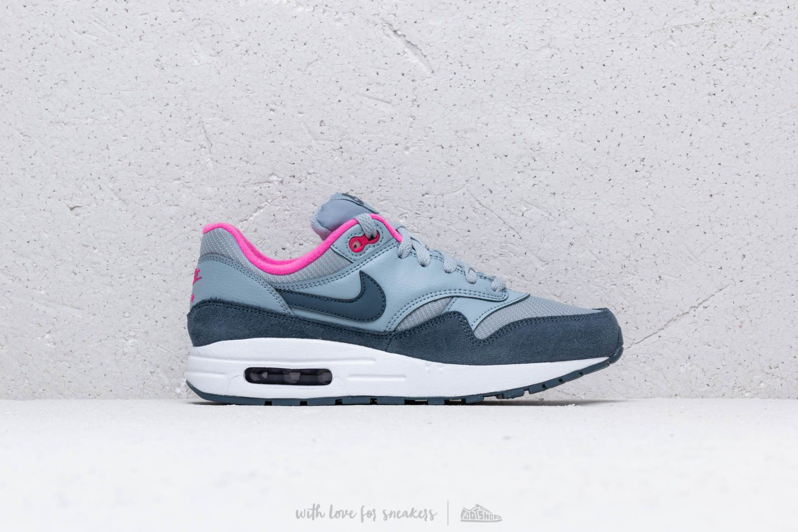 best service ffa25 6dead Nike Air Max 1 (GS) Obsidian Mist  Monsoon Blue-Laser Fuchsia at