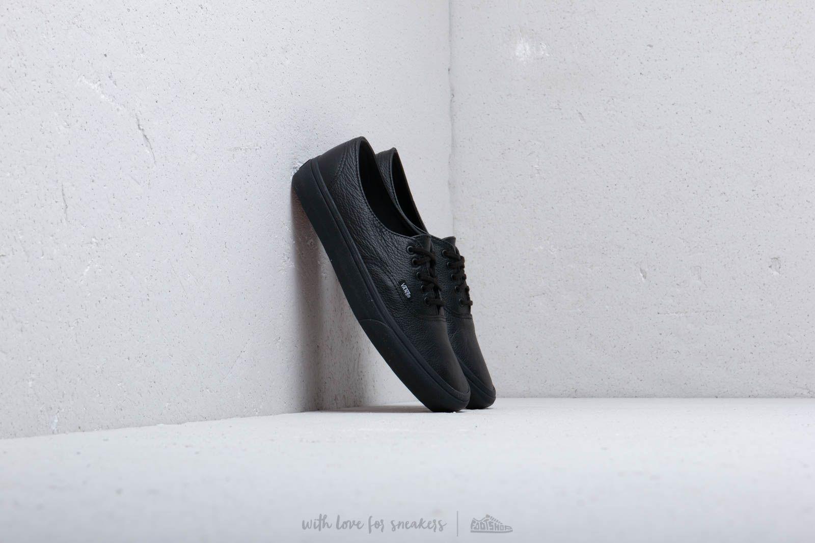 Vans Authentic Decon Premium Leather Black Black  8d9a470b2c