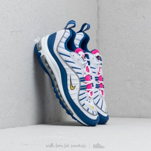 new concept c7578 042a6 Nike Air Max 98 (GS) White/ Amarillo-Indigo Force | Footshop