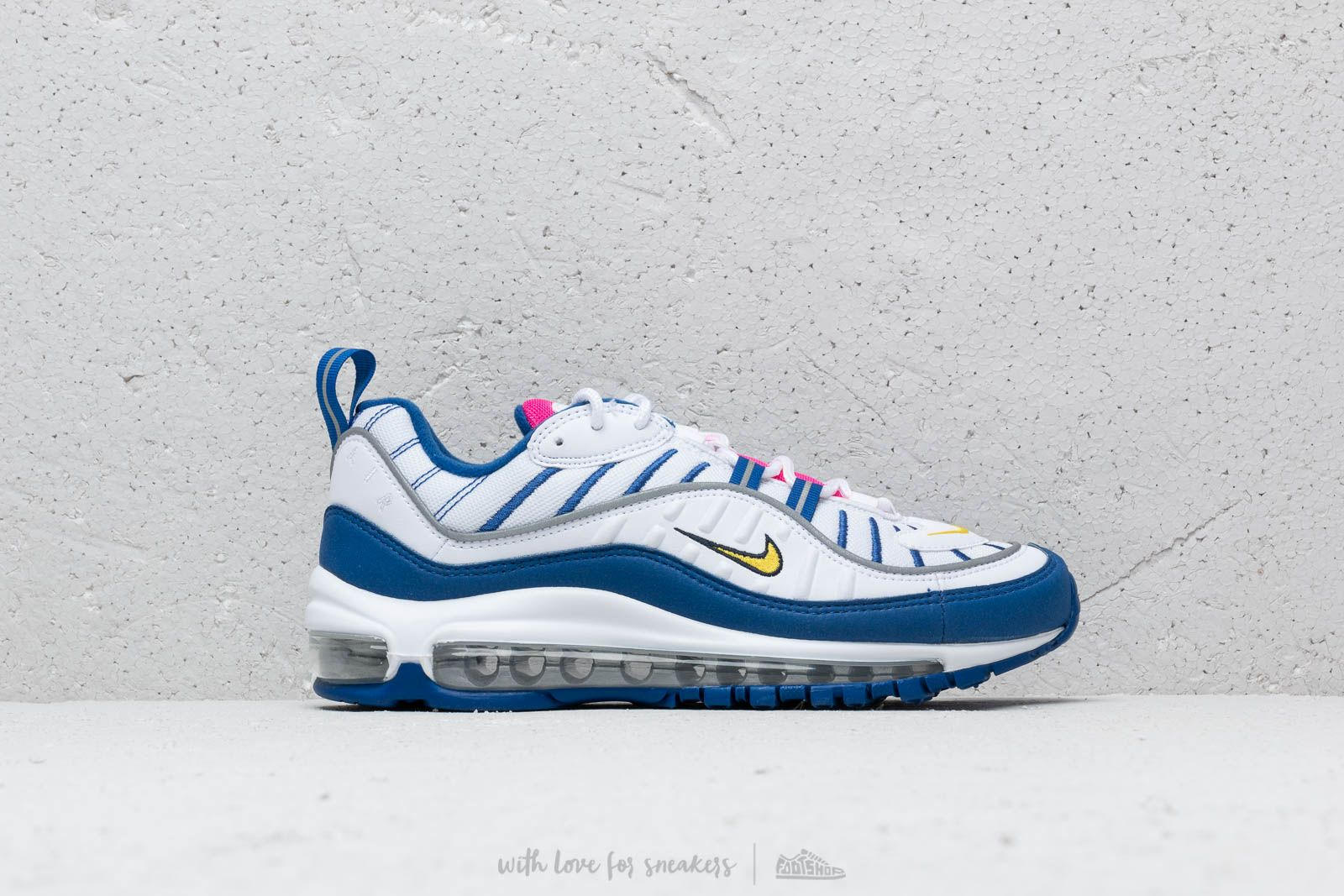 brand new 615d4 75a49 Nike Air Max 98 (GS) White  Amarillo-Indigo Force at a great