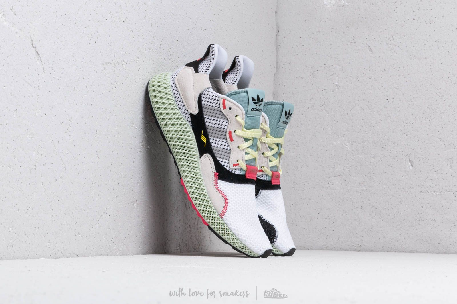 adidas Consortium ZX 4000 4D Ftw White/ Grey Two/ Linen Green