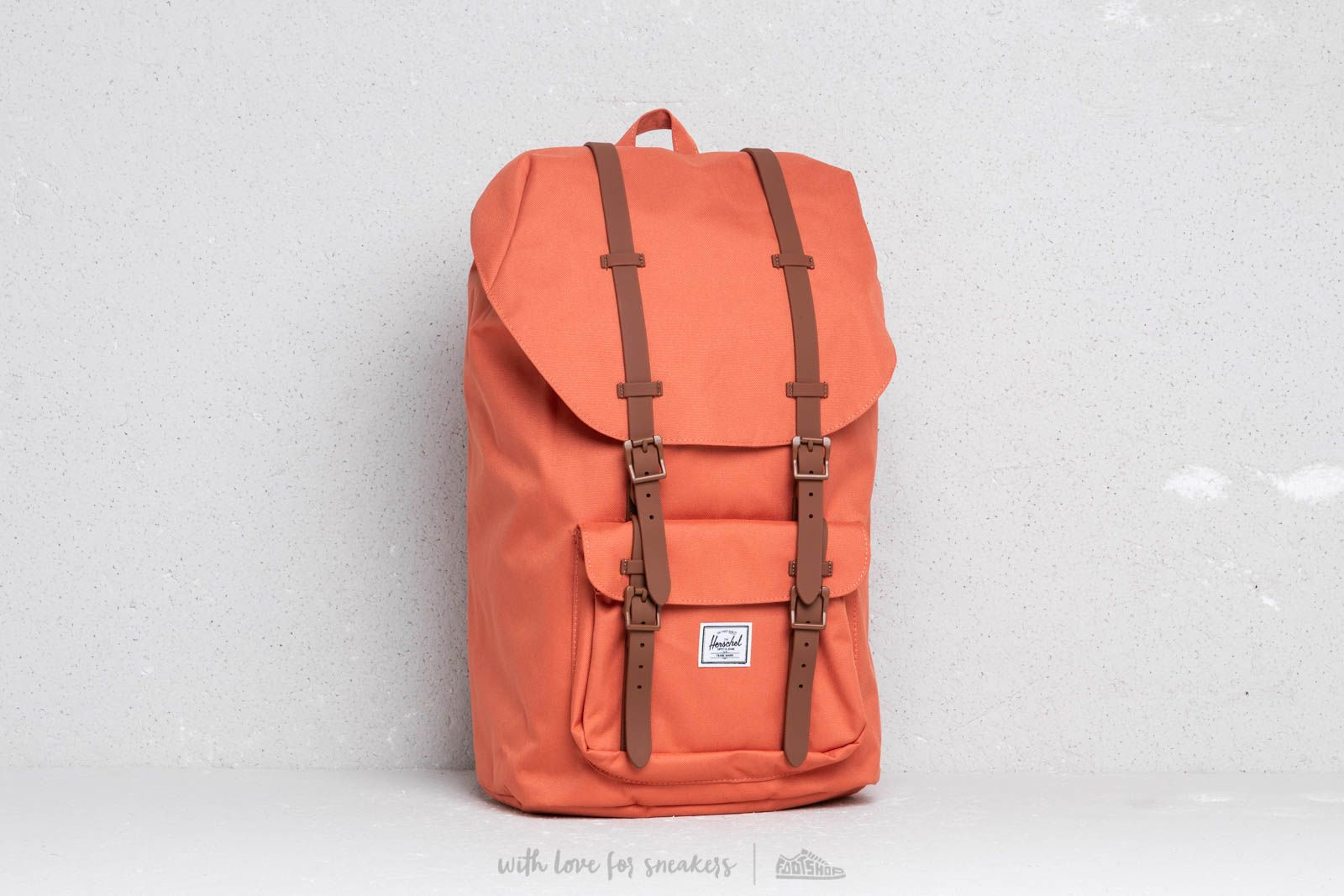 702f2fc89cc Herschel Supply Co. Little America Backpack Apricot Brandy  Saddle Brown at  a great price