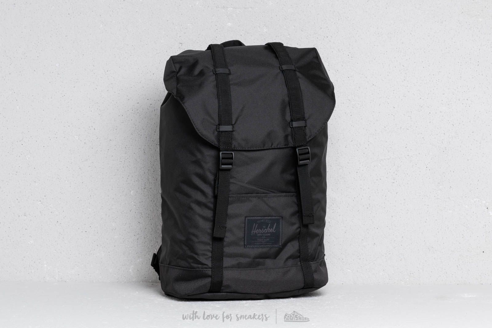 ff0cbb04a2df Herschel Supply Co. Retreat Light Backpack Black at a great price  101 buy  at Footshop
