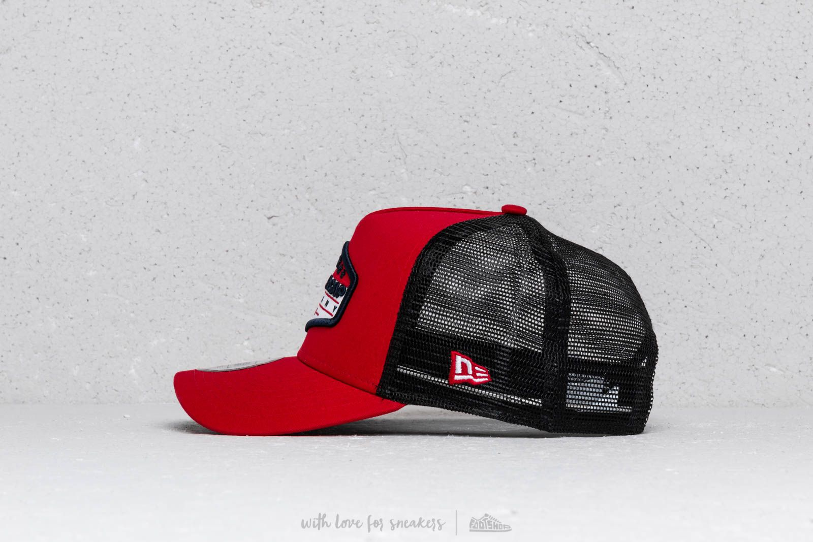 New Era Patch A Frame Trucker Cap Red  Black  White at a great price 31a5688cb68