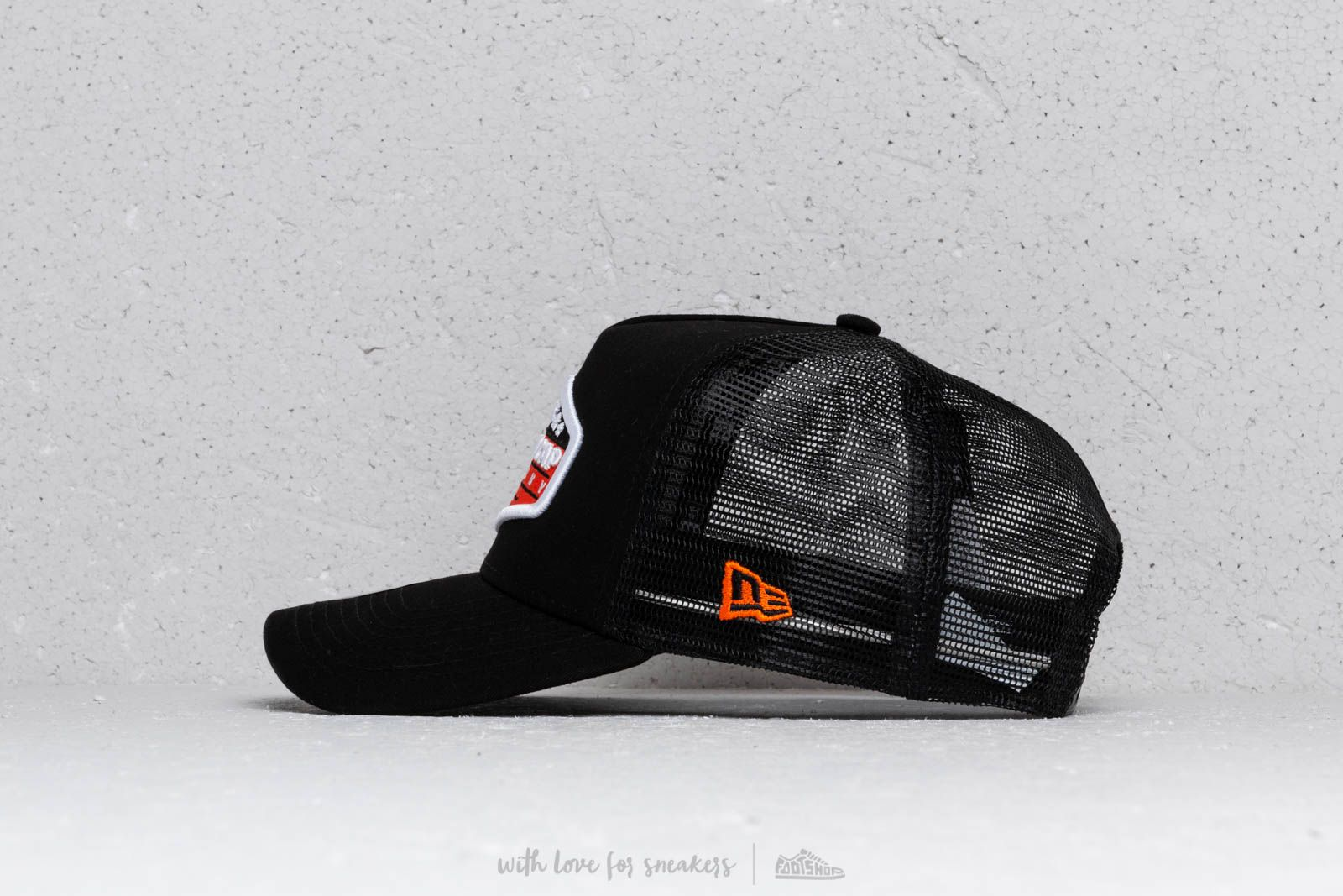 New Era Patch A Frame Trucker Cap Orange  Black  White at a great price 81982622108