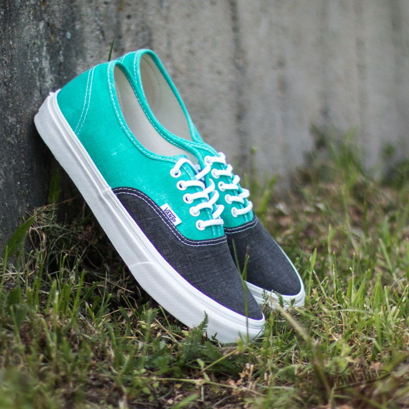 9216f971e94216 Vans Authentic Slim (Washed 2 Tone) Pool Green