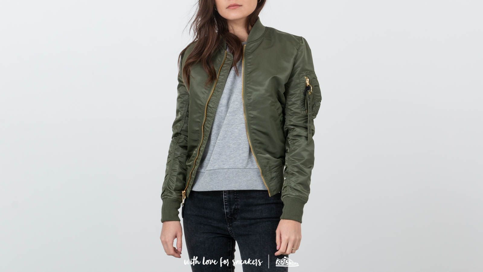 Alpha Industries MA-1 VFLW Wmn Sage Green/ Gold at a great price $168 buy at Footshop