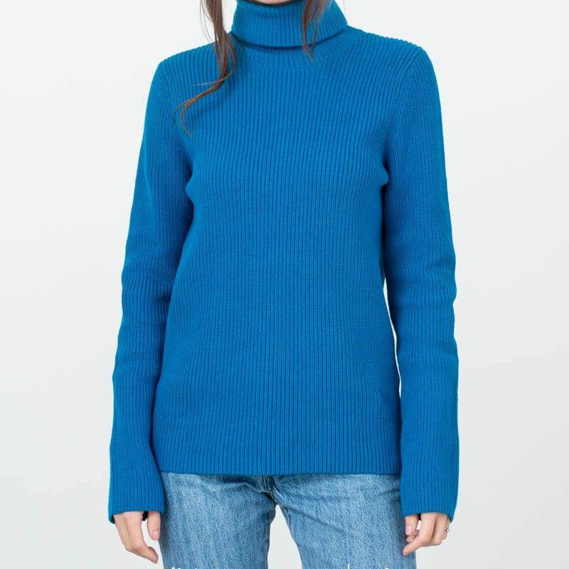 SELECTED Ellie Longsleeve Knit Rollneck Mykonos Blue