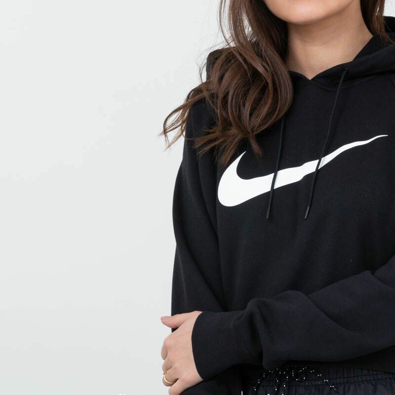 Nike Sportswear Crop Hoodie Black/ White