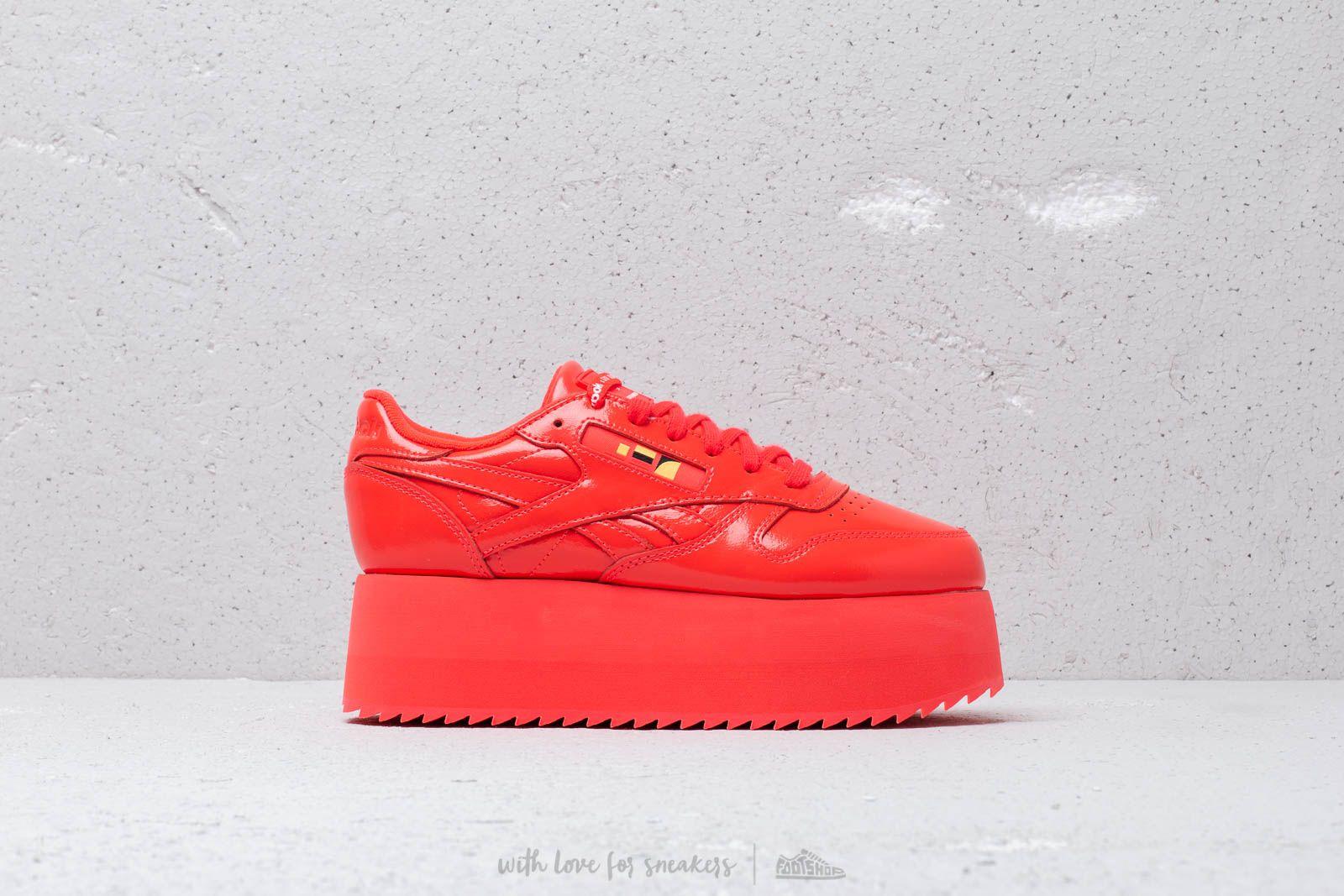 e5569f99b18cd Reebok x Gigi Hadid Classic Leather Triple Platform Neon Red  White at a  great price