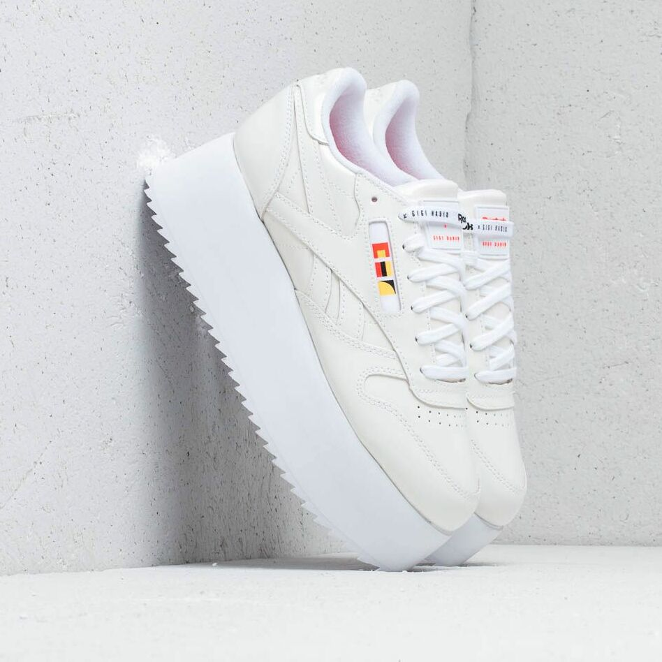 Reebok x Gigi Hadid Classic Leather Triple Platform White/ Neon Red/ Black EUR 38