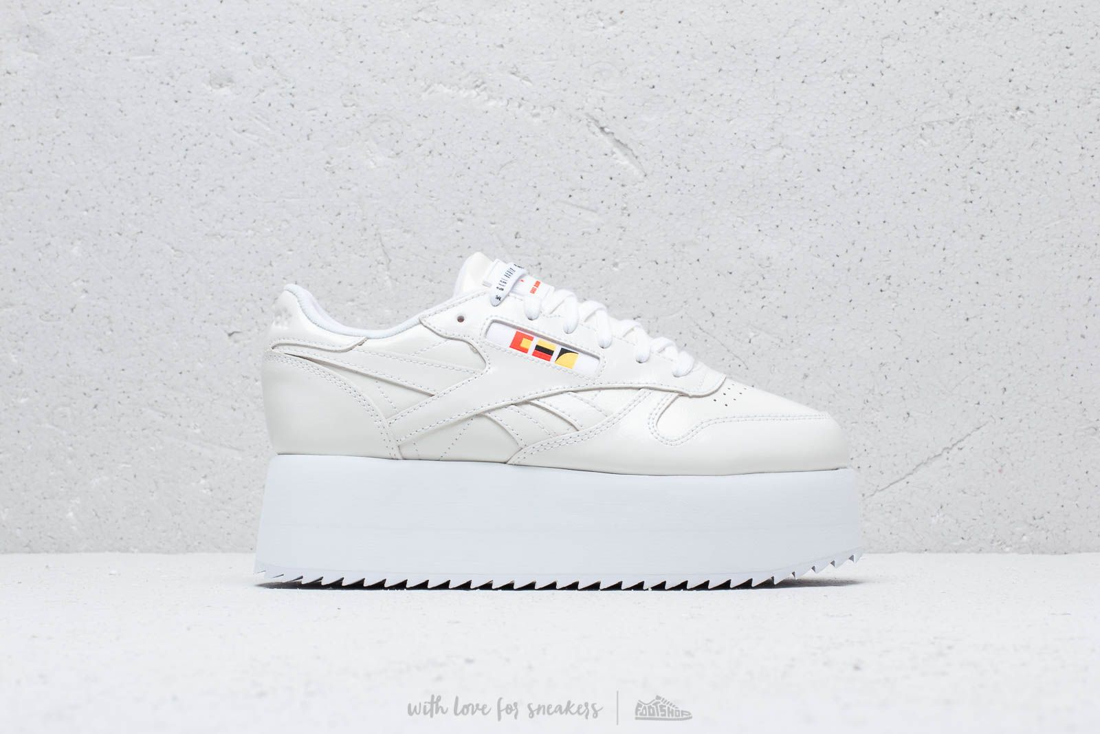 super popular a2c57 5f87e Reebok x Gigi Hadid Classic Leather Triple Platform White  Neon Red  Black  at a