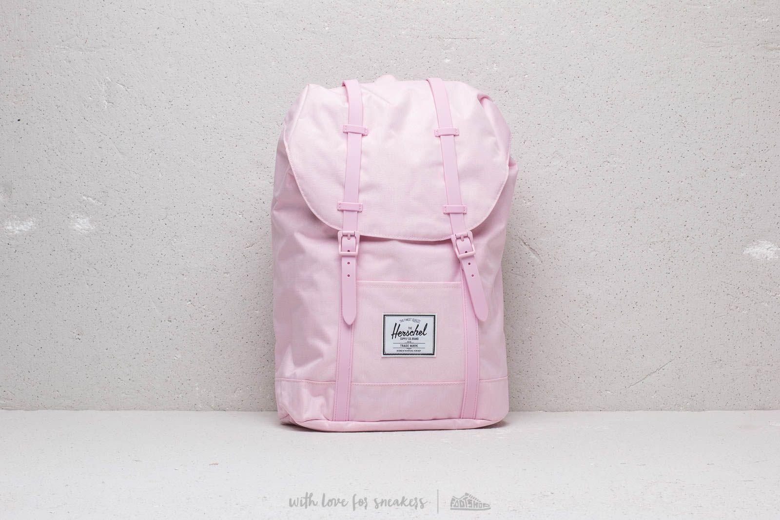 Herschel Supply Co  Retreat Backpack Pink Lady Crosshatch