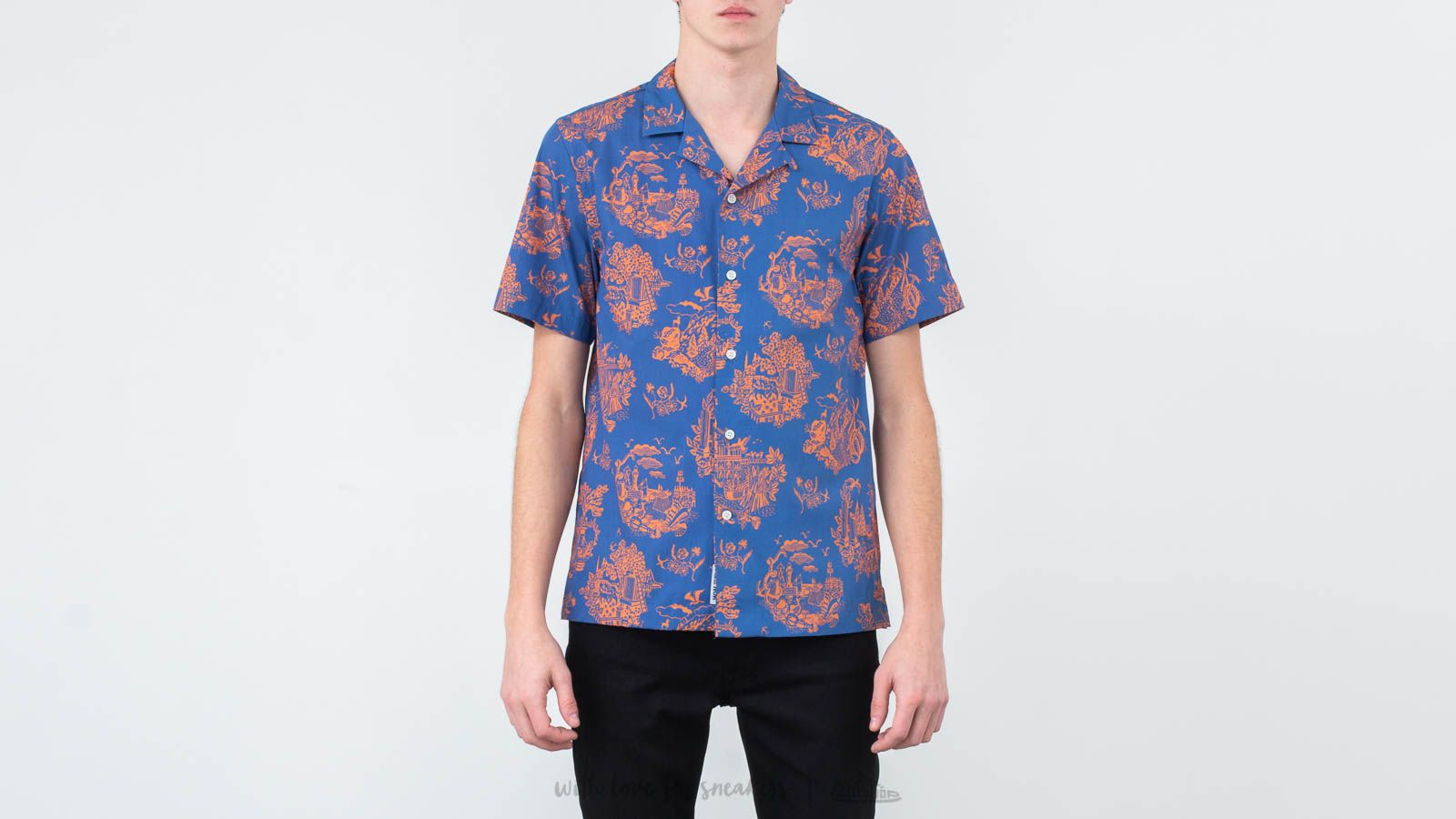 Camisas WOOD WOOD Brandon Shirt Tourist Blue
