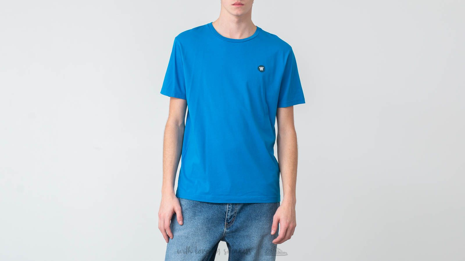 Magliette WOOD WOOD Ace Tee Bright Blue