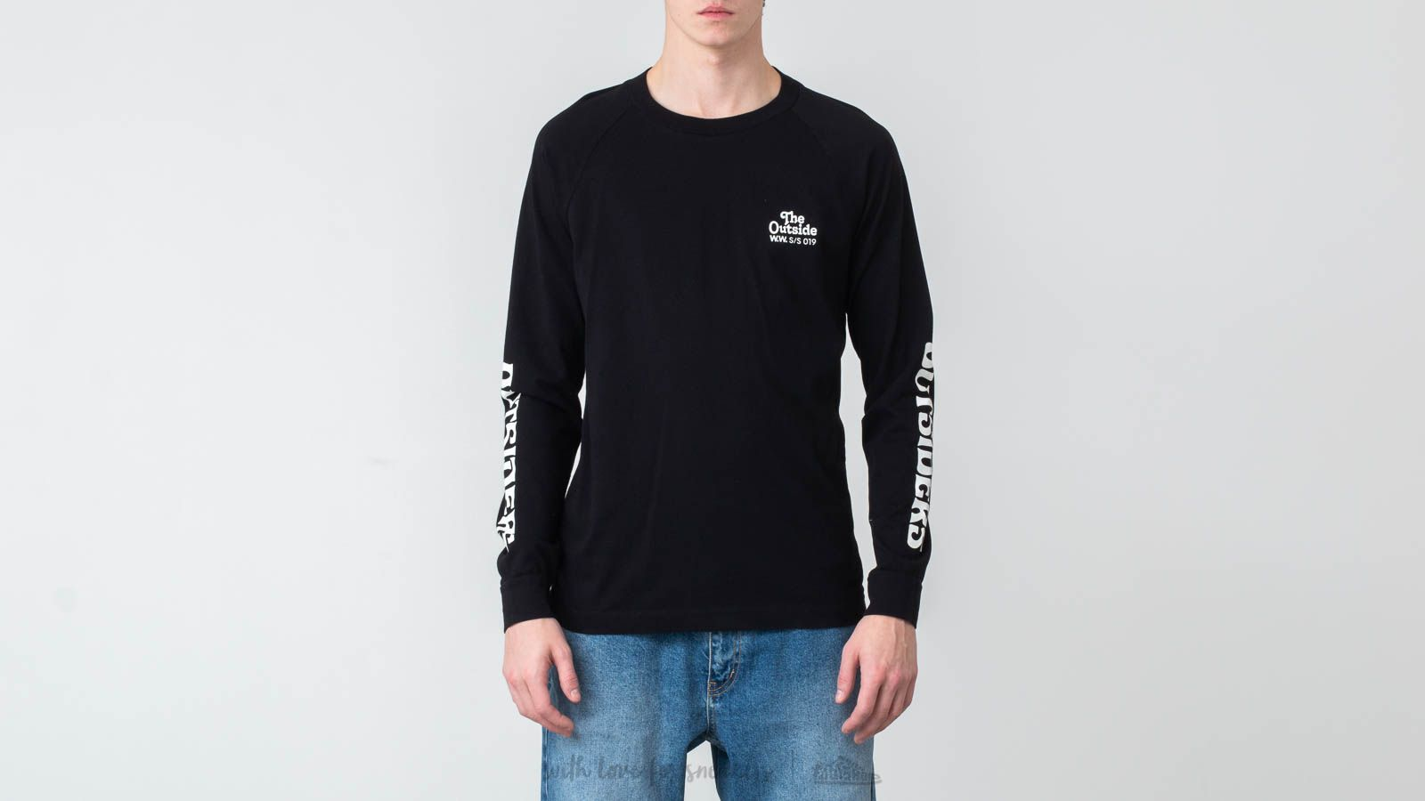 T-Shirts WOOD WOOD Han Long Sleeve Tee Black