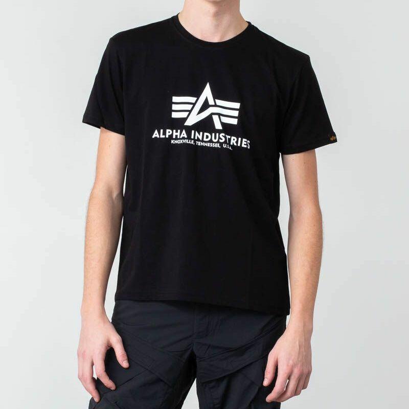 Alpha Industries Basic Tee Black/ White
