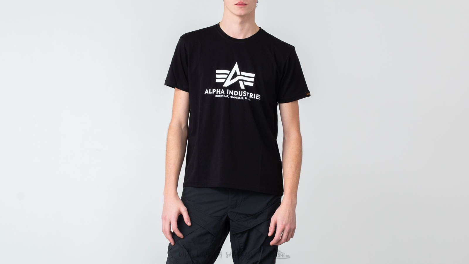 Alpha Industries Basic Tee Black/ White at a great price $34 buy at Footshop