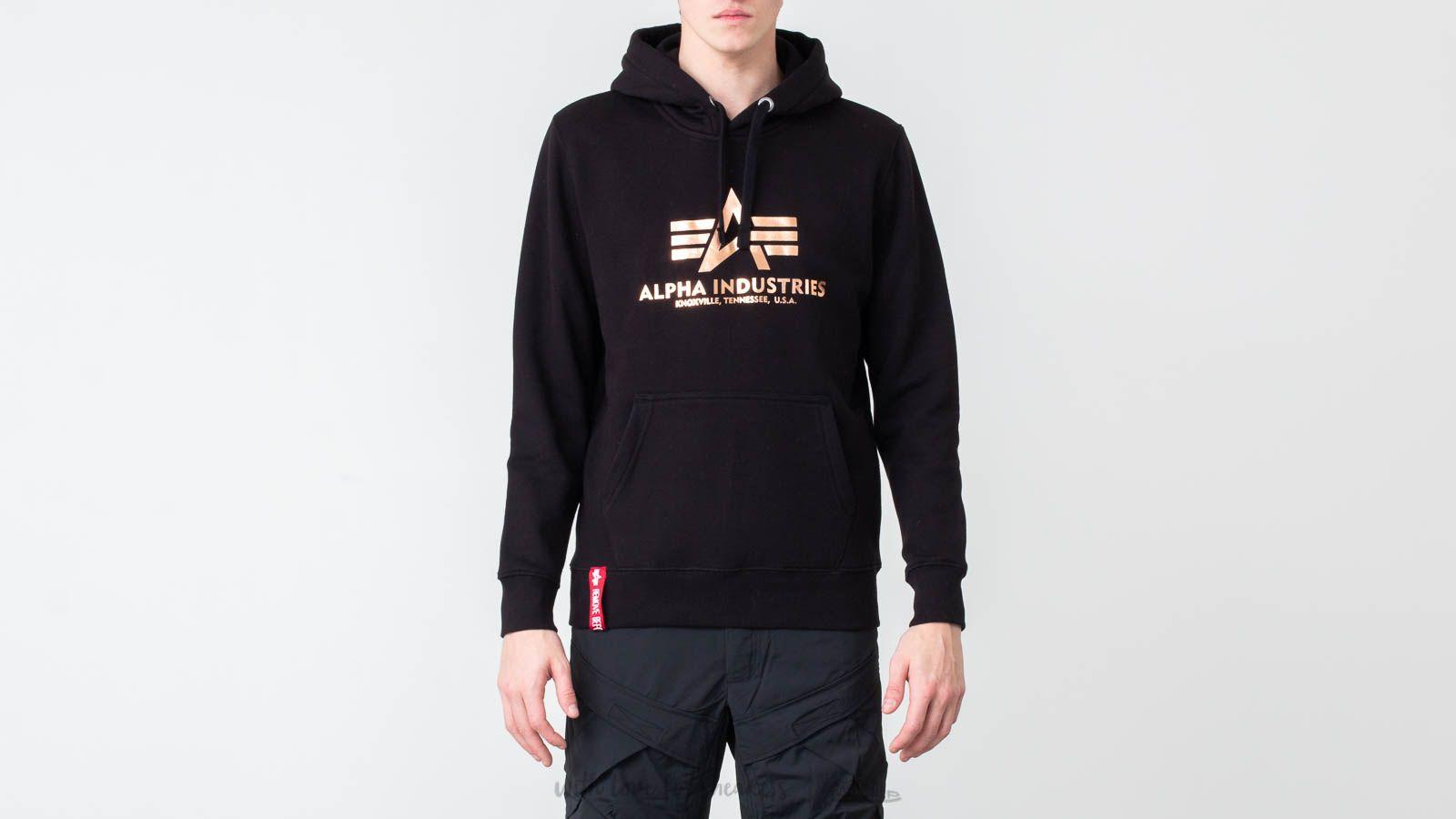 Alpha Industries Basic Hoodie Black/ Gold at a great price $73 buy at Footshop