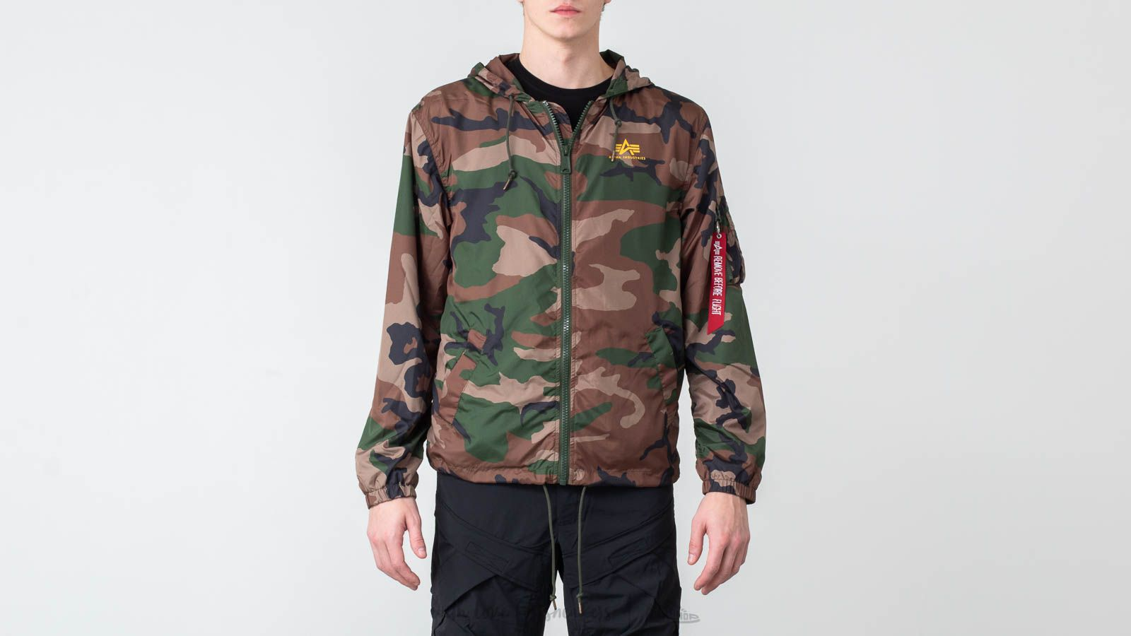 Alpha Industries Windbreaker Woodland Camo 65 at a great price $157 buy at Footshop