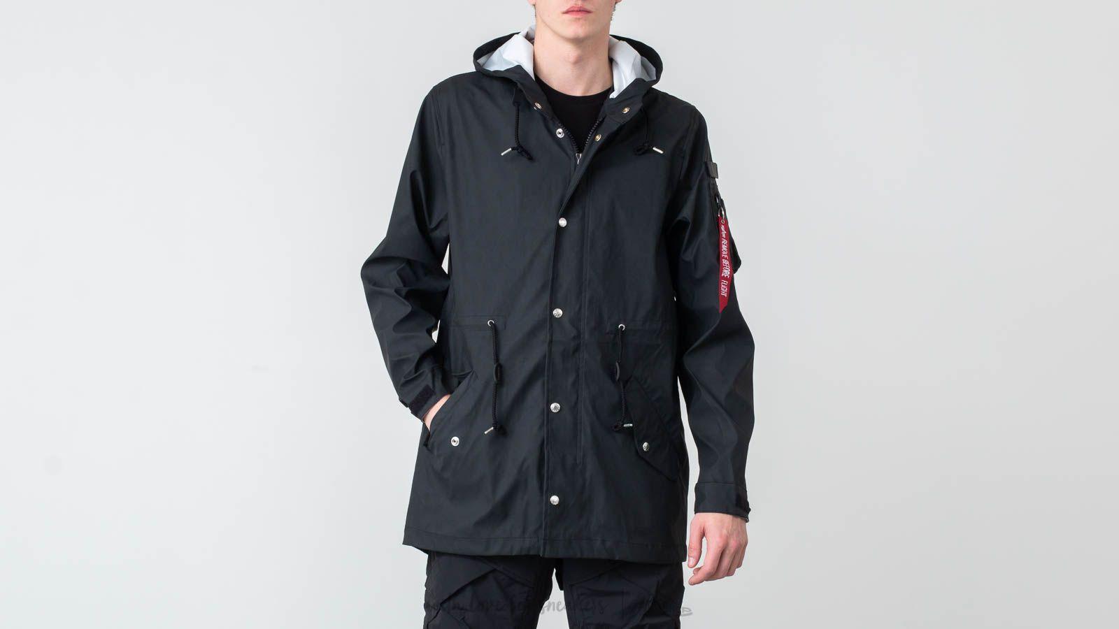 Alpha Industries Fishtail Raincoat Black za skvelú cenu 161 € kúpite na Footshop.sk