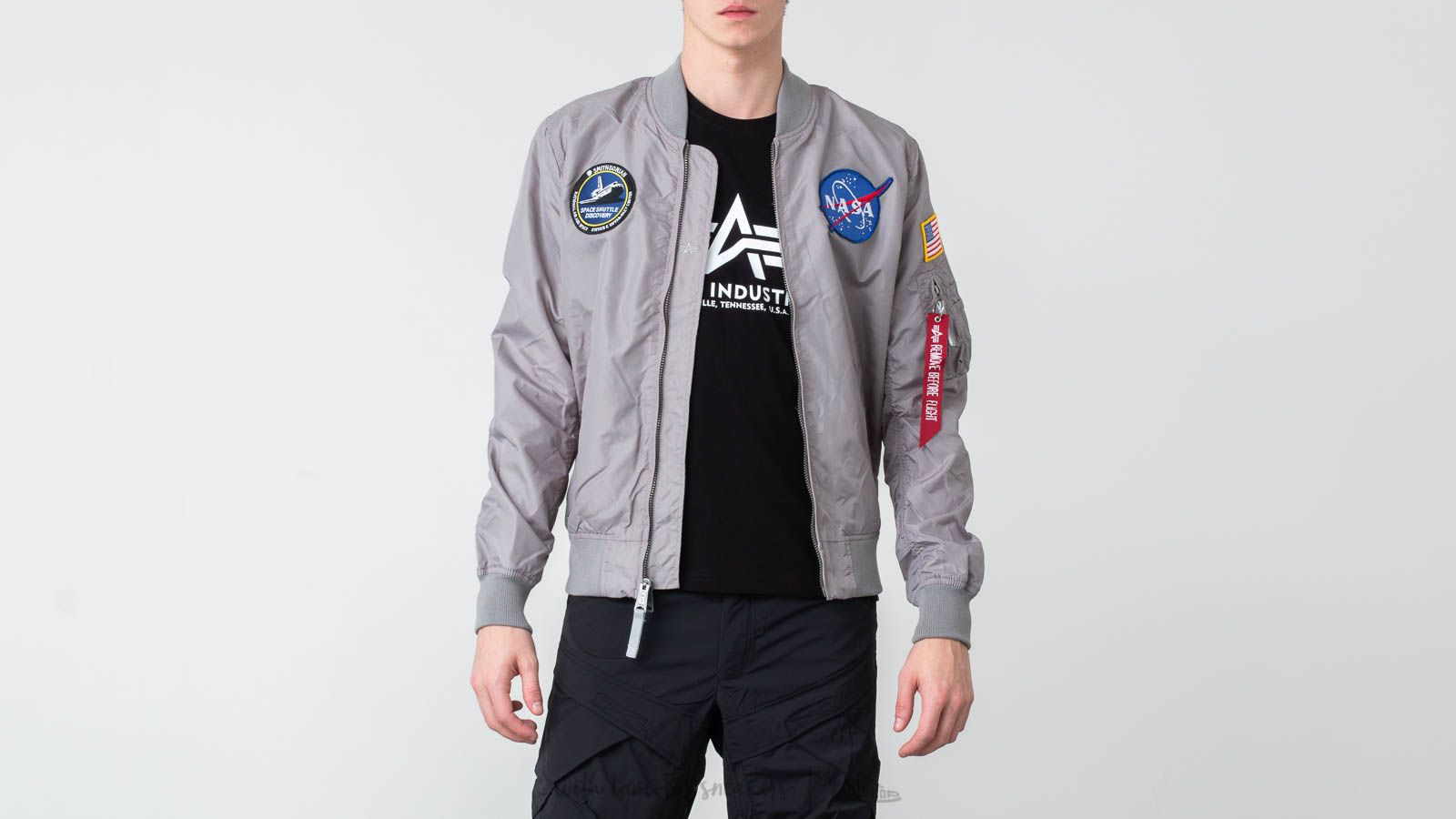 Bombery Alpha Industries MA-1 TT NASA Reversible II Silver
