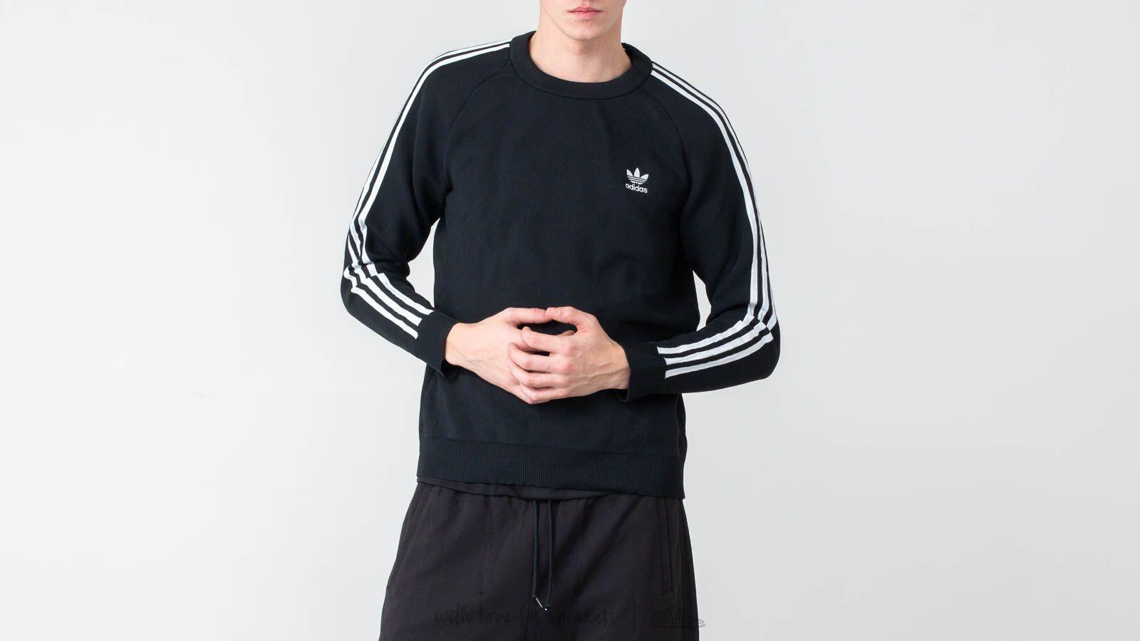 Sweatshirts adidas Originals Knit Crewneck Black
