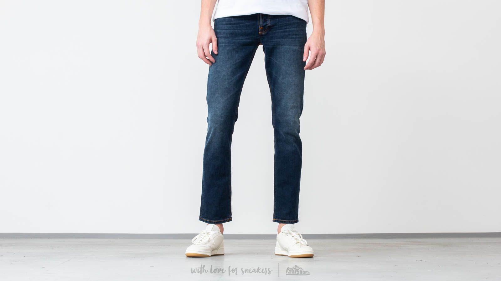 Broeken en spijkerbroeken Nudie Jeans Grim Tim Ink Navy