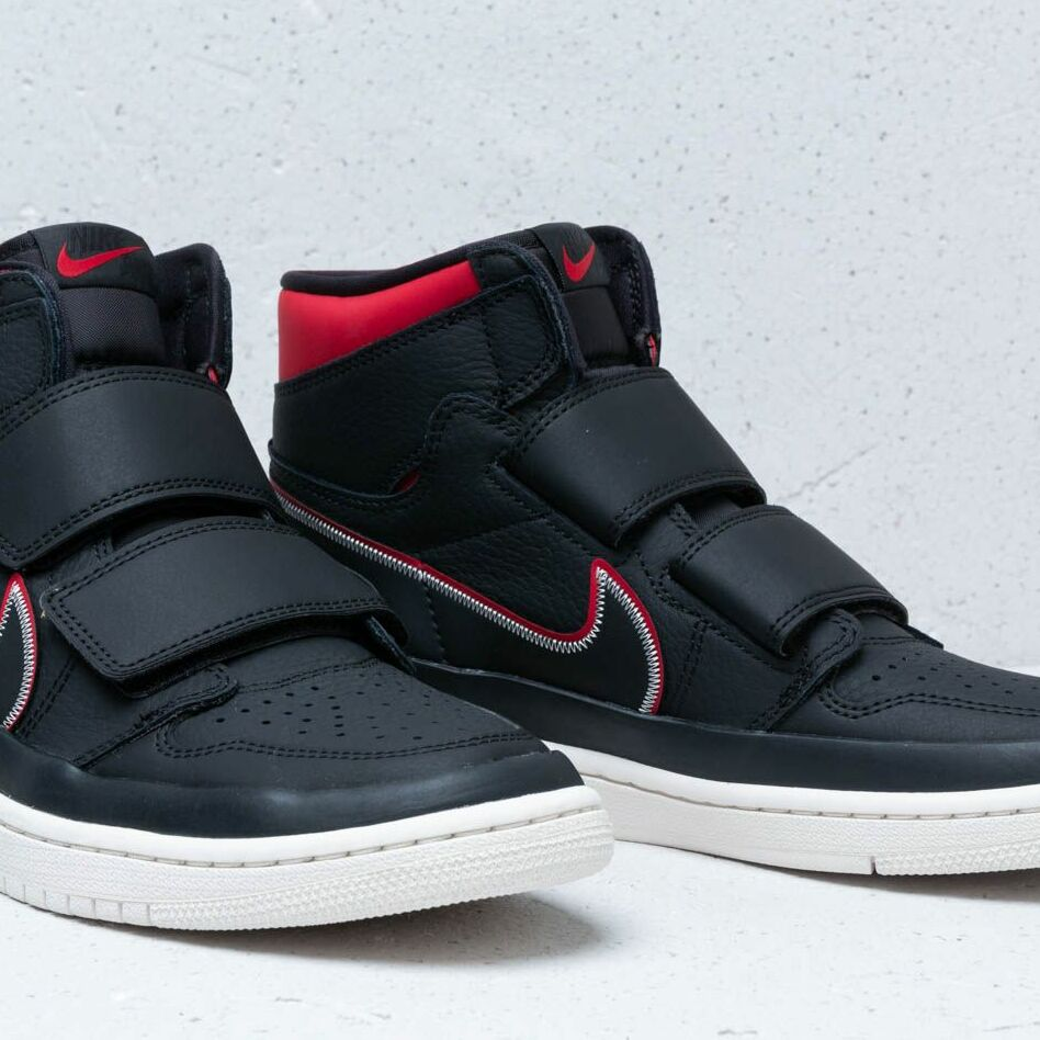 Air Jordan 1 Re Hi Double Strp Black/ Gym Red-Sail