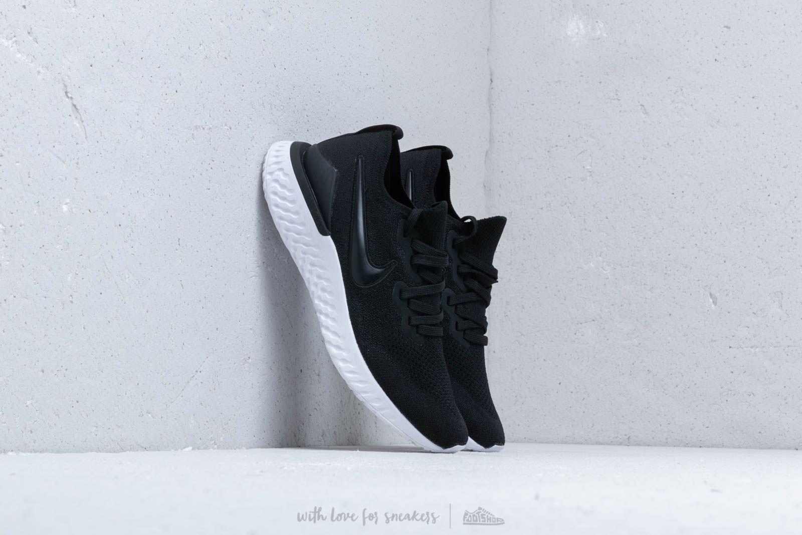 fda93d2aab6c9 Nike Epic React Flyknit 2 Black/ Black-Gunsmoke at a great price 139 €