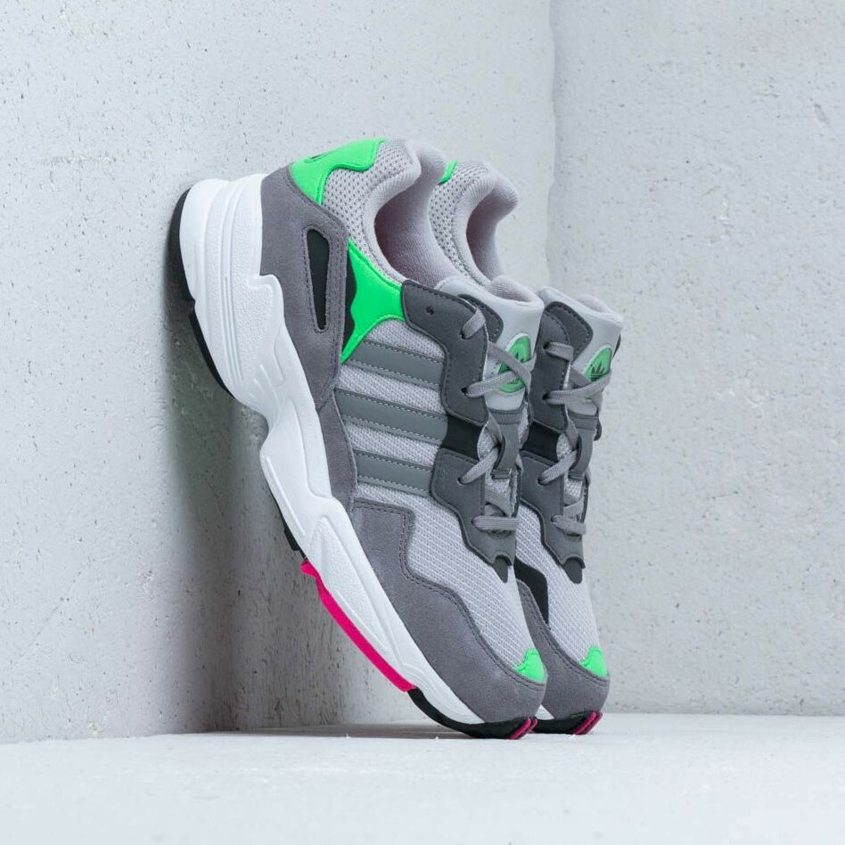adidas Yung96 J Grey Two Grey Three Shock Pink