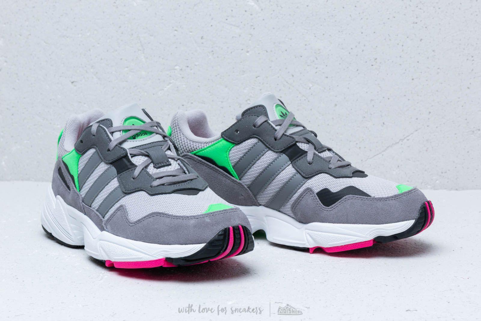 adidas Yung 96 J Grey Two Grey Three Shock Pink | Footshop