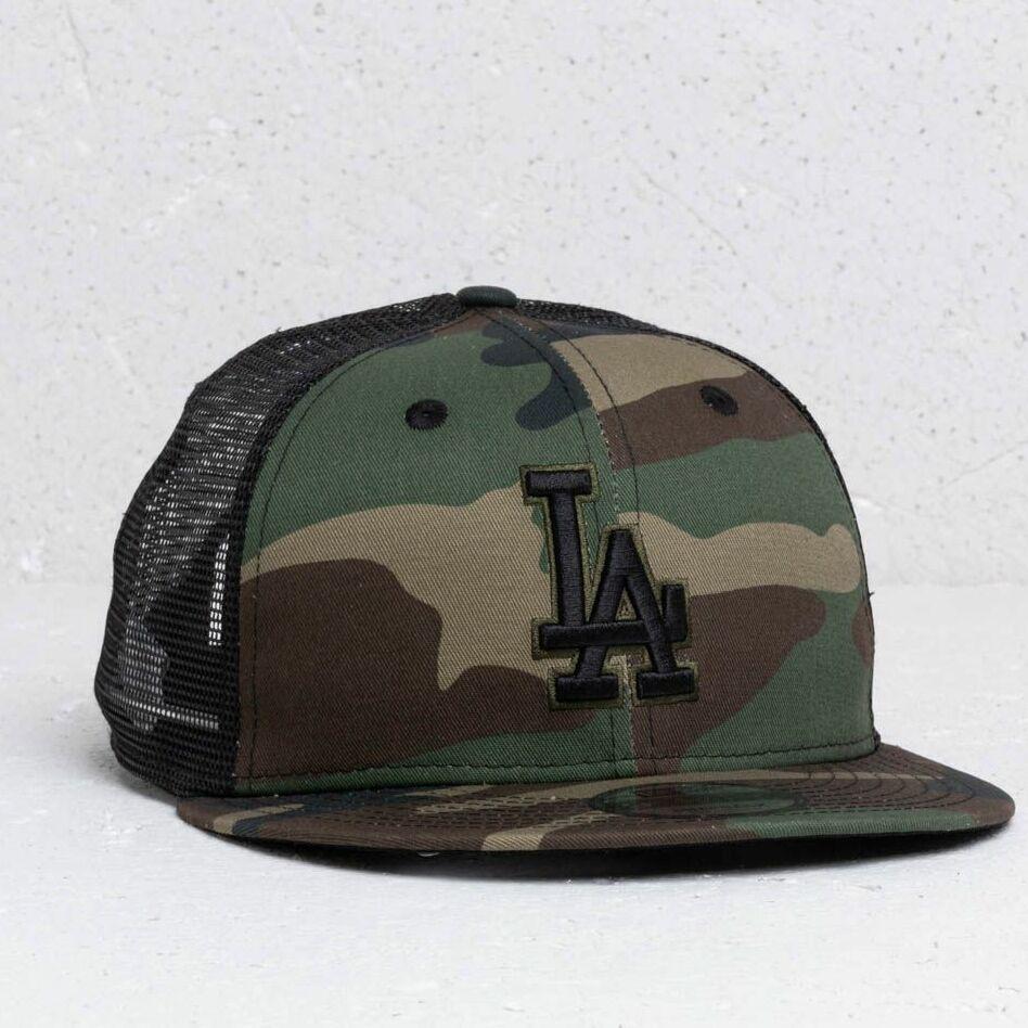 New Era 9Fifty A Frame MLB Essential Los Angeles Dodgers Trucker Cap Camo/ Black, Green