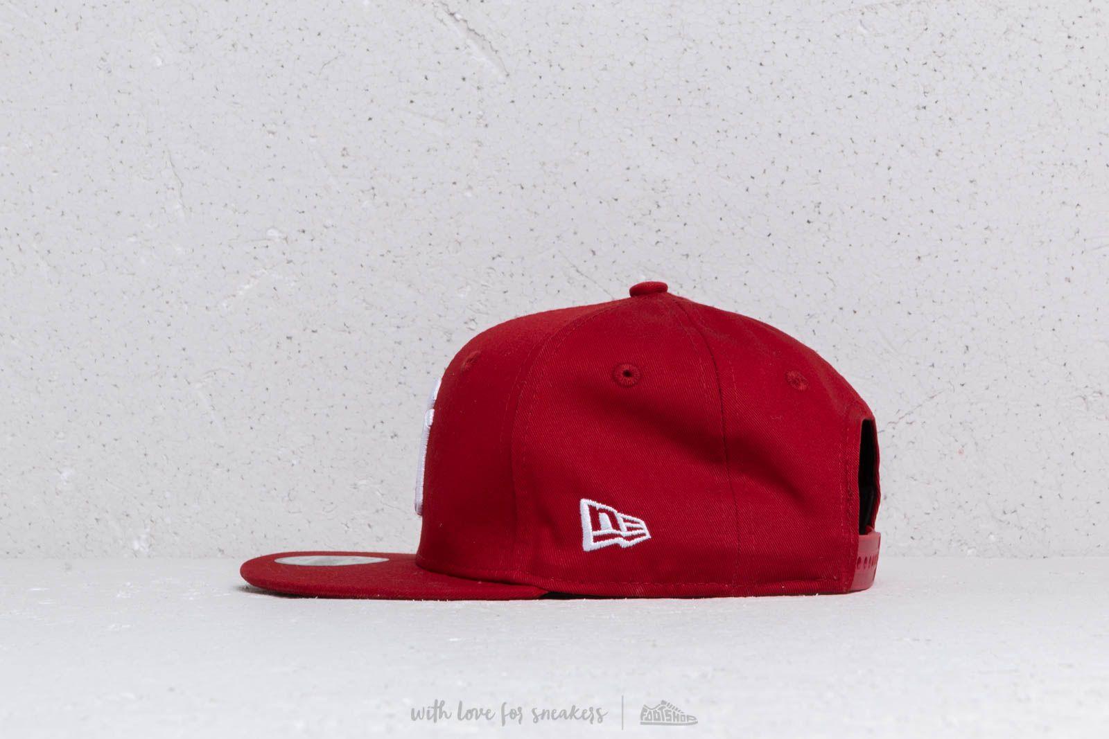 New Era Kids 9Fifty MLB Essential New York Yankees Cap Red  White at a great 328b45e0cda