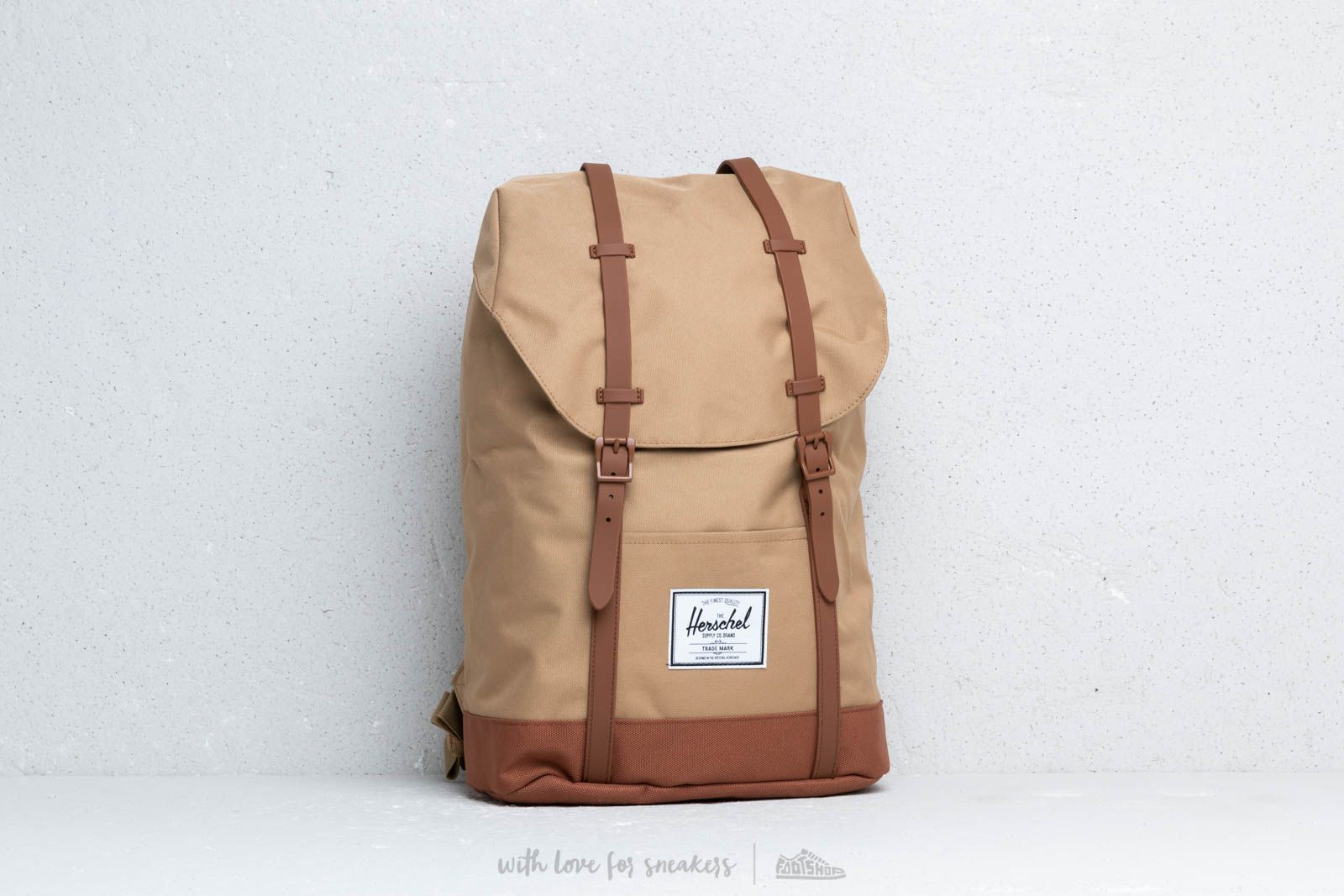 565c837eb7b Herschel Supply Co. Retreat Backpack Kelp  Saddle Brown